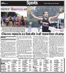 Chacra repeats as Oakville half marathon champ
