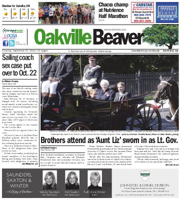 Oakville Beaver, 25 Sep 2014