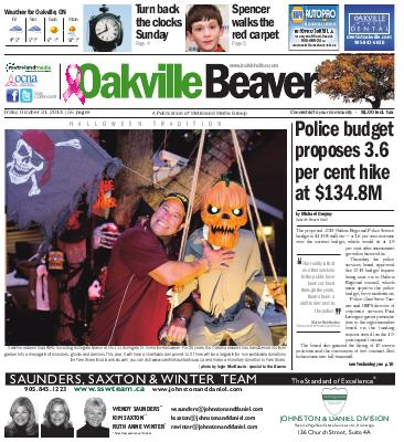 Oakville Beaver, 31 Oct 2014