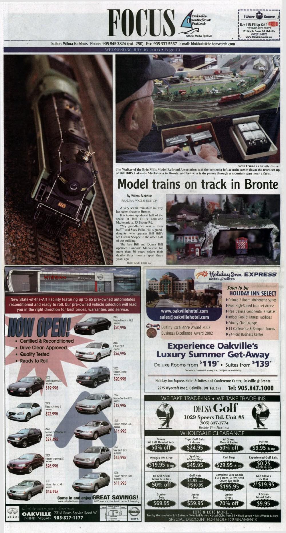 Oakville Beaver, 16 Jul 2003