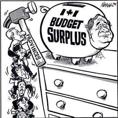 Steve Nease Editorial Cartoons: Budget Surplus