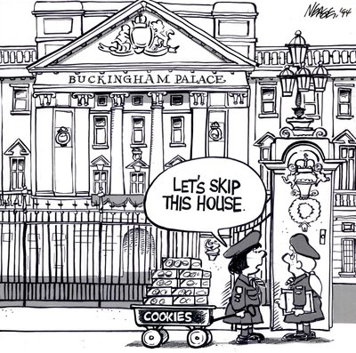 Steve Nease Editorial Cartoons: Girl Guides at Buckingham Palace