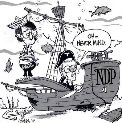 Steve Nease Editorial Cartoons: Bob Rae Sinking