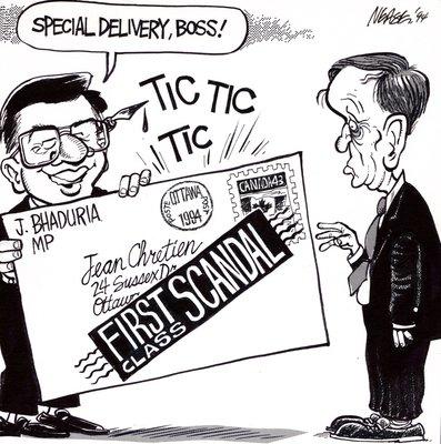 Steve Nease Editorial Cartoons: Chretien's First Class Scandal