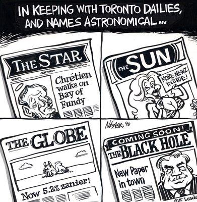 Steve Nease Editorial Cartoons: The Black Hole