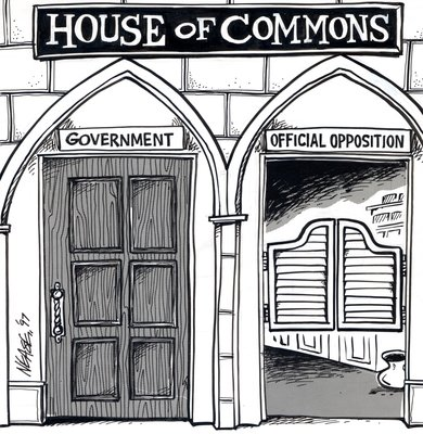Steve Nease Editorial Cartoons: House of Commons Saloon