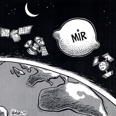 Steve Nease Editorial Cartoons: Mir Space Station