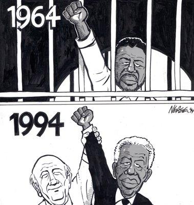 Steve Nease Editorial Cartoons: Nelson Mandela