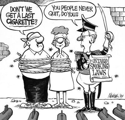 Steve Nease Editorial Cartoons: One Last Cigarette