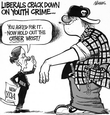 Steve Nease Editorial Cartoons: Liberal Crackdown on Youth Crime