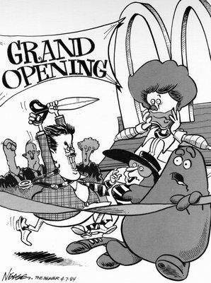 Steve Nease Editorial Cartoons: McDonald's Opening
