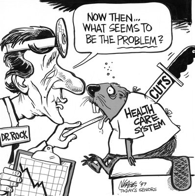 Steve Nease Editorial Cartoons: Health Care Cuts