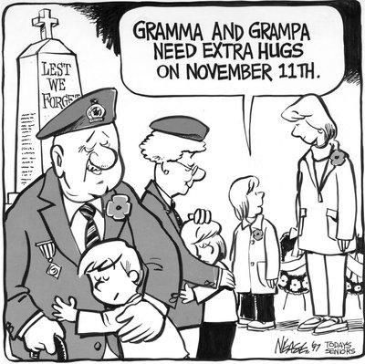Steve Nease Editorial Cartoons: Hugs on November 11th