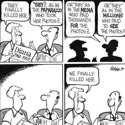 Steve Nease Editorial Cartoons: Princess Diana's Death