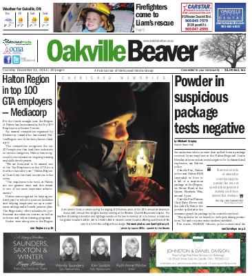 Oakville Beaver, 11 Dec 2014