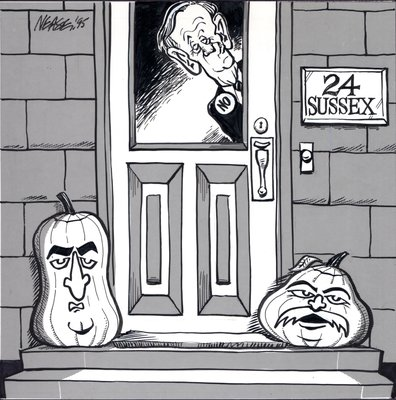 Steve Nease Editorial Cartoons: Jack o' Lanterns at 24 Sussex