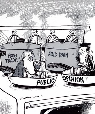 Steve Nease Editorial Cartoons: Mulroney in Hot Water