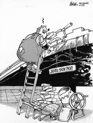 Steve Nease Editorial Cartoons: James Snow Parkway