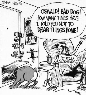 Steve Nease Editorial Cartoons: Pit Bull Ban