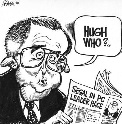 Steve Nease Editorial Cartoons: Hugh Segal in PC Leader Race