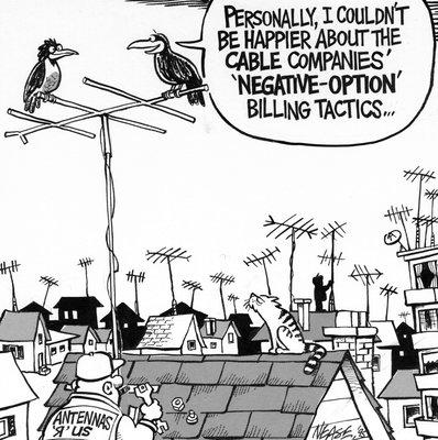 Steve Nease Editorial Cartoons: Negative Option Billing Tactics