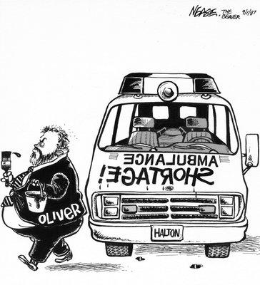 Steve Nease Editorial Cartoons:Ambulance Shortage