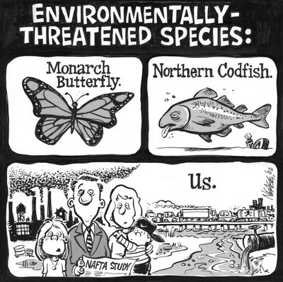 Steve Nease Editorial Cartoons: Environmentally Threatened Species
