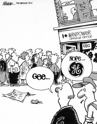 Steve Nease Editorial Cartoons: Manpower  - Oakville Office