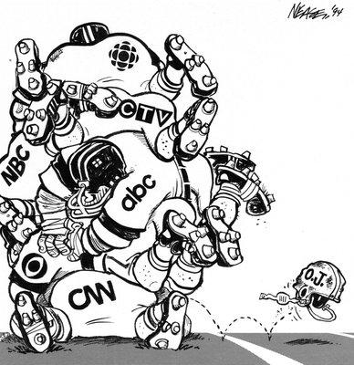 Steve Nease Editorial Cartoons: O.J. Simpson Media Coverage