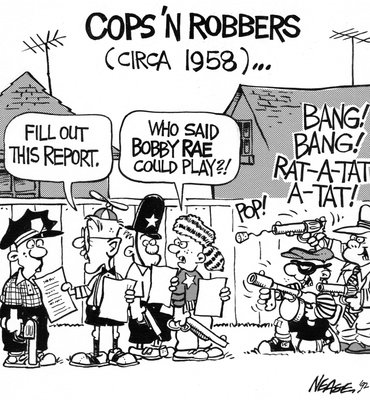 Steve Nease Editorial Cartoons: Cops n' Robbers (c. 1958)