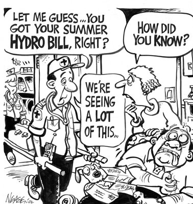 Steve Nease Editorial Cartoons: Summer Hydro Bill