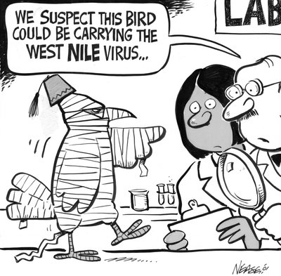 Steve Nease Editorial Cartoons: West Nile Virus