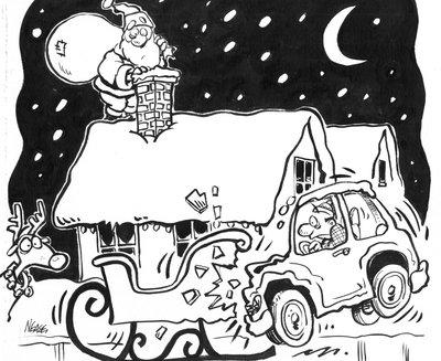 Steve Nease Editorial Cartoons: Crashing into Santa's Sleigh