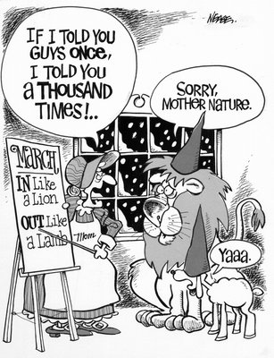 Steve Nease Editorial Cartoons: In like a lion, out like a lamb