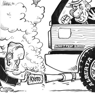 Steve Nease Editorial Cartoons: Chretien's Kyoto Commitment