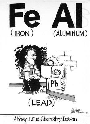 Steve Nease Editorial Cartoons: Abbey Lane Chemistry Lesson