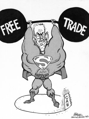 Steve Nease Editorial Cartoons: Harrigan's Free Trade Strength