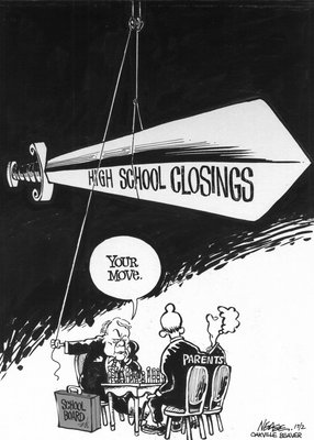 Steve Nease Editorial Cartoons: High School Closings