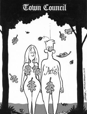 Steve Nease Editorial Cartoons: Town Council - Arts, Adam & Eve