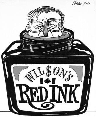 Steve Nease Editorial Cartoons: Wilson's Red Ink