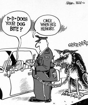 Steve Nease Editorial Cartoons: GRRR Quotas