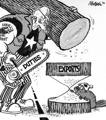 Steve Nease Editorial Cartoons: Exporting Canadian Lumber