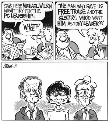 Steve Nease Editorial Cartoons: Who'd Want Michael Wilson?