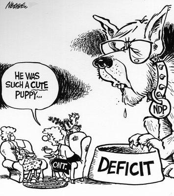 Steve Nease Editorial Cartoons: Bob Rae's Deficit Bowl