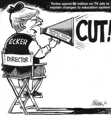 Steve Nease Editorial Cartoons: Expensive Education Ads