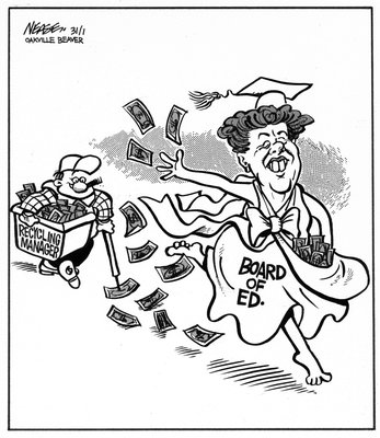 Steve Nease Editorial Cartoons: Board of Education's Generosity