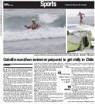 Oakville marathon swimmer prepared to get chilly in Chile