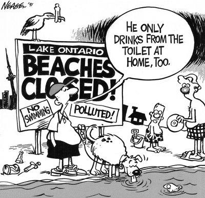 Steve Nease Editorial Cartoons: Beaches Closed!