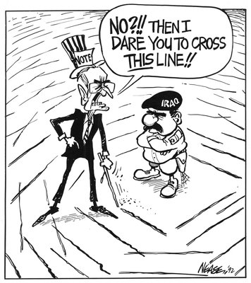 Steve Nease Editorial Cartoons: I dare you to cross THIS line!