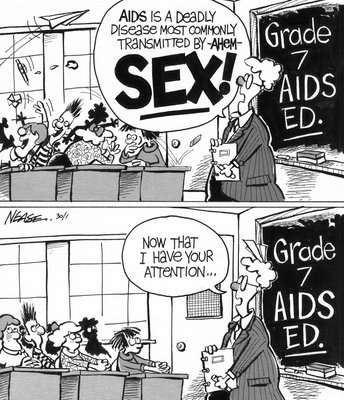 Steve Nease Editorial Cartoons: AIDS Education